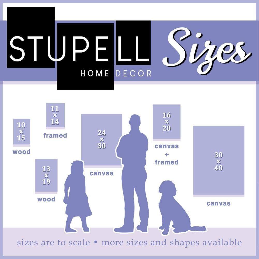 13 x 19 Stupell Industries Hit Hard Run Fast Turn Left Baseball Sports Word Design by Artist The Saturday Evening Post Wall Art Wood Plaque