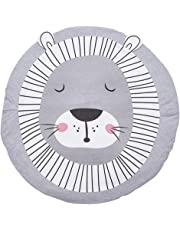 Blueyouth Baby Crawling Rug, Soft Cotton Cartoon Baby Crawling Blanket, Round Children Sleeping Area Rug Floor Play Mat for Kids Room Decor, 37 Inch.