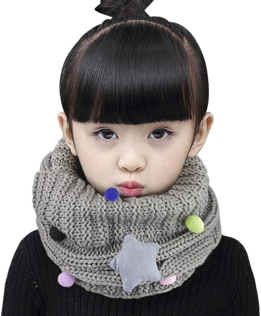 Baby Kids Winter Warm Plush Balls Tassel Scarf Boy Girl Travel Skiing Neck Shawl