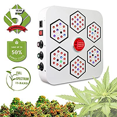 LED Grow Light Full Spectrum for Indoor Plants Veg and Flower Dimmable COB LED Grow Light for Marijuana BloomBeast A520 520w 13 Band with UV IR 3 Dimmers hydroponics Growing Lamps