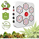 LED Grow Light Full Spectrum for Indoor Plants Veg and Flower Dimmable COB LED Grow Light for Marijuana BloomBeast A520 520w 13 Band with UV IR 3 Dimmers hydroponics Growing Lamps (5 Years Warranty)