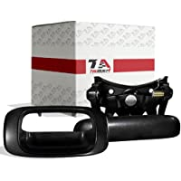 T1A Tailgate Handle Latch and Bezel Trim Replacement for 1999-2007 Chevy Silverado/GMC Sierra, Rod Clips Incl, Also Fits 1500, 2500, 3500 HD Pickup Truck, Black Textured, T1A-15228539 & T1A-15997911
