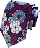 BESMODZ Men's Novelty Paisley Floral Neck Tie Wedding Formal Tuxedo Ties Vintage