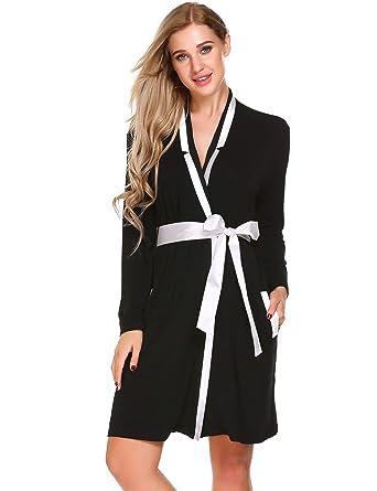 db1dce333c Ekouaer Womens Soft and Warm Fleece Bathrobe Kimono Spa Robe at ...