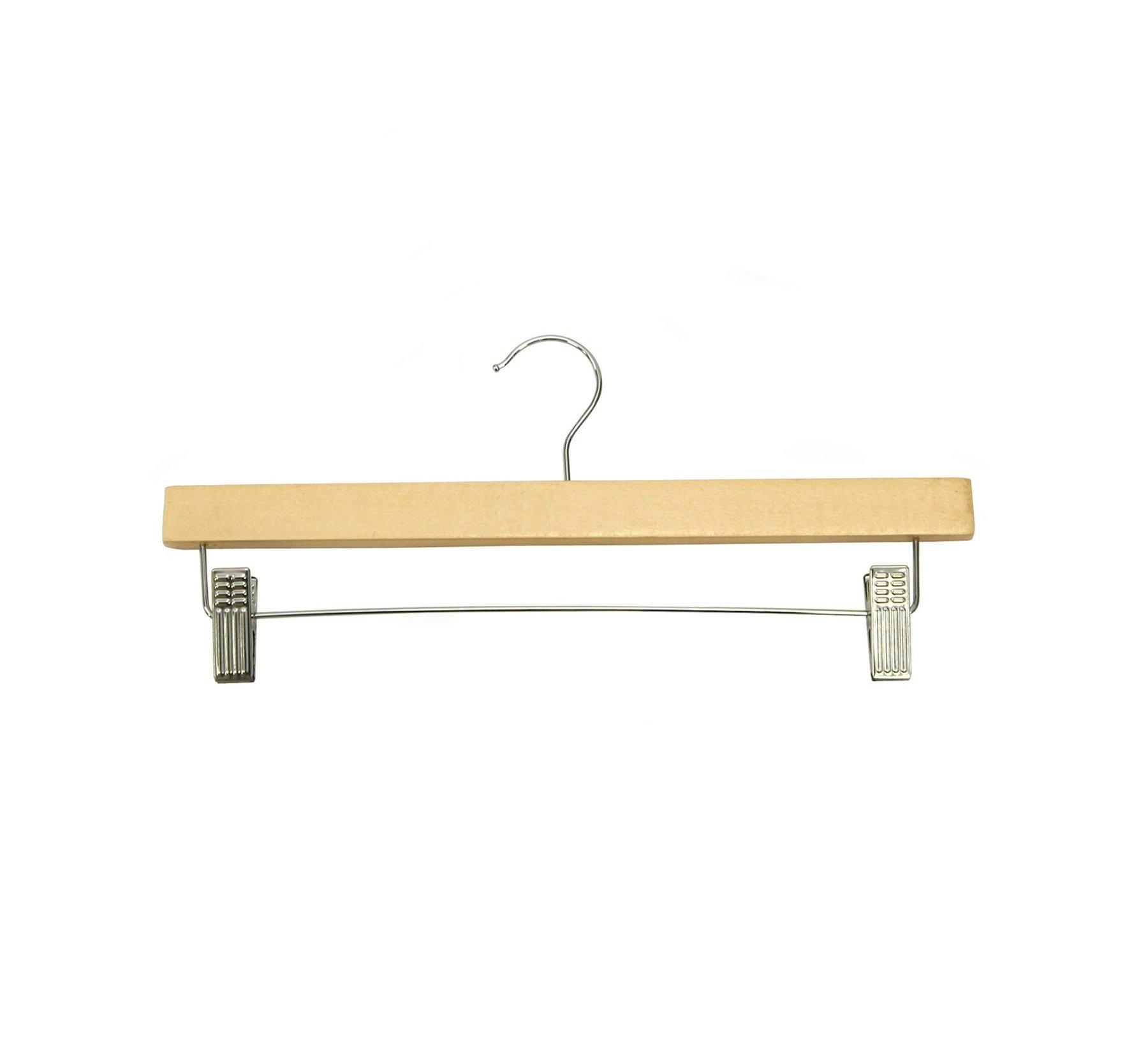 Newtech Display HWB-14/MA Pants/Skirt Wood Hanger, Maple (Pack of 100)