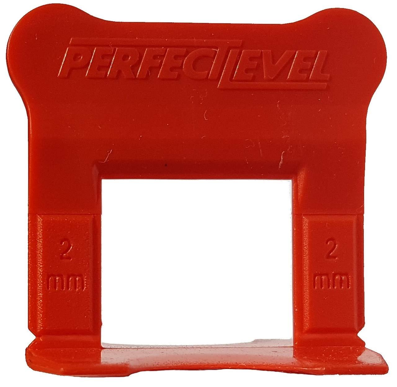 + 1 pinza PerfectLevel PLP 2 mm distanziatore autolivellante professionale 7710 Perfect Level Pro + 200 angoli Kit di livellamento per piastrelle basi tasselli 500 clip