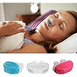 Pinza antirronquidos Igemy de silicona con dilatadores nasales, alivia la apnea de sueño y ayuda con los…