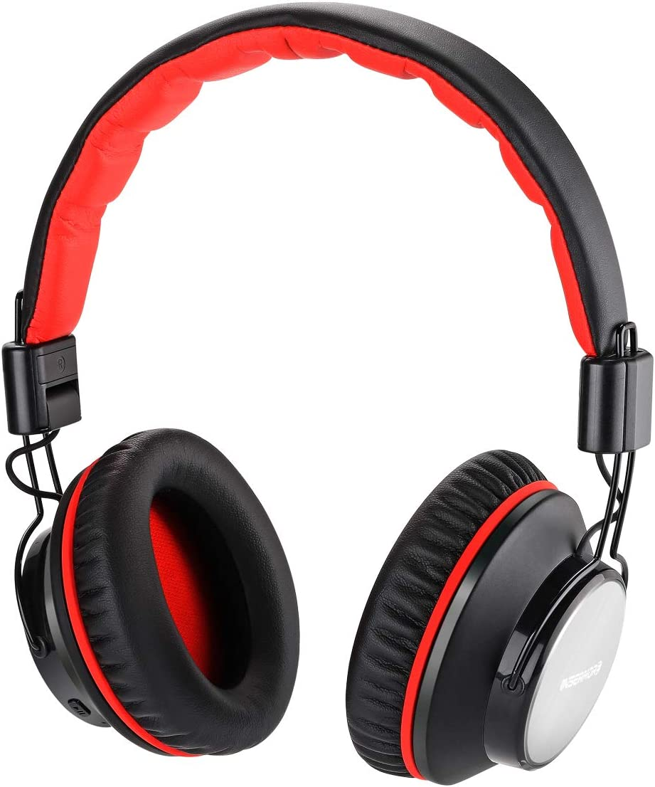 Auriculares Bluetooth con cancelación de ruido activa, insermore auriculares para avión de viaje, auriculares estéreo Hi-Fi inalámbricos/con cable con micrófono para PC/Cell teléfonos/TV