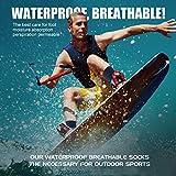 100% Waterproof Socks, RANDY SUN Women's Gift Crew
