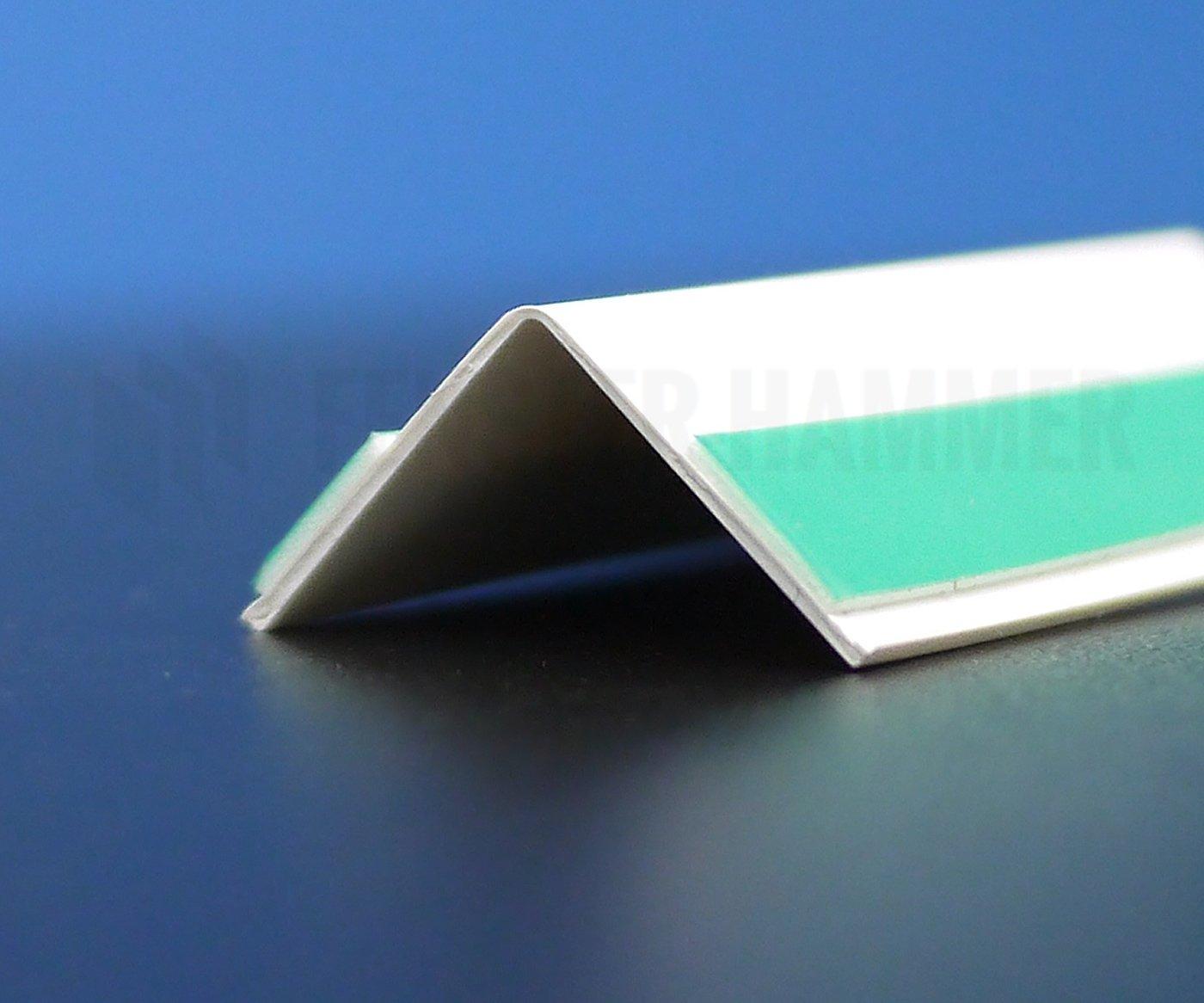 Knickwinkel selbstklebend Winkelleiste 35x35mm 10m lang Winkelprofil Fensterleiste auf Rolle