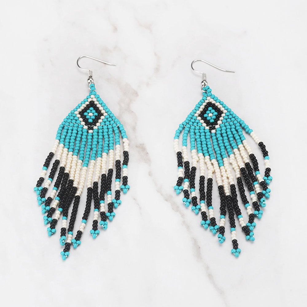 Native American Beaded Earrings Patterns Free Custom Decoration