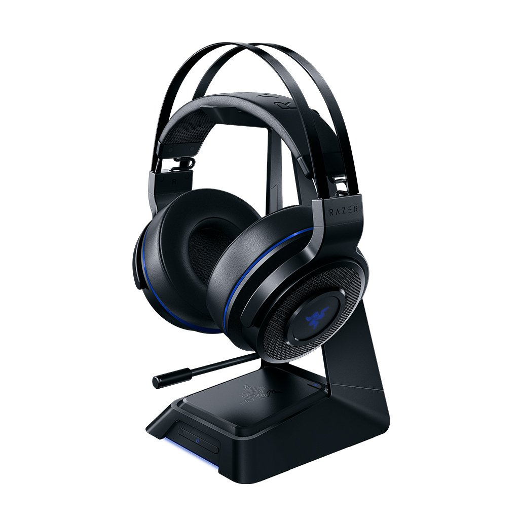 Razer Thresher Ultimate - Playstation 4 (PS4) & PC Wireless Gaming Headset - 7.1 Dolby Surround Sound with Retractable Microphone