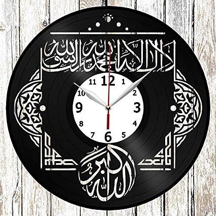 Amazon.com: Islam, Quran Vinel Record Wall Clock Home Art Decor Original Gift Unique Design Handmade Vinyl Clock Black Exclusive Clock Fan Art: Home & ...