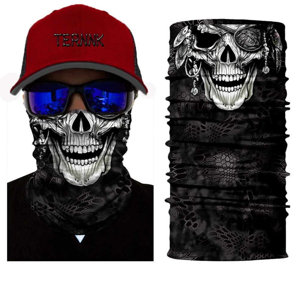 Snowboard Hiking Cycling Mask Ski Skull Motorcycle Face Mask Microfiber Multifunctional Headwear for Motorcycle Riding