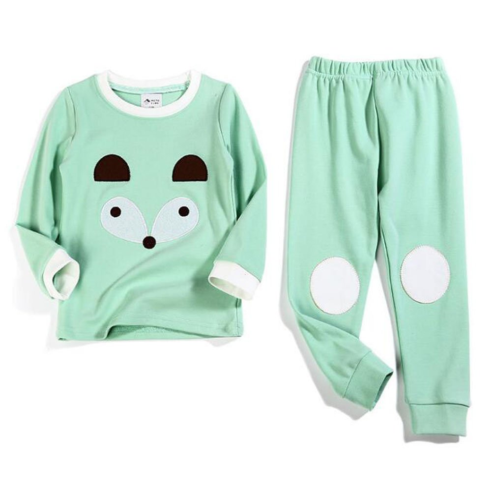Deylaying 2 pezzi Pigiama indumenti da notte Bambini Manica lunga cotone PJs Gift Kids biancheria da notte tuta sportiva Pantaloni Sets Abbigliamento da casa per Ragazzi Ragazze