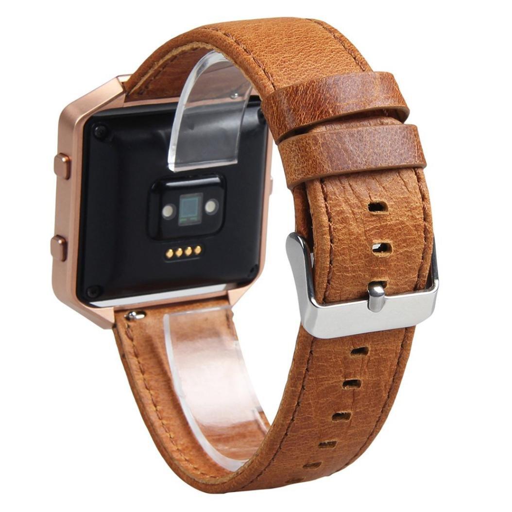 AloneAレトロレザー腕時計ブレスレットストラップバンドfor Fitbit Blazeスマート時計( without時計フレーム) コーヒー コーヒー B01NCTGG8Z
