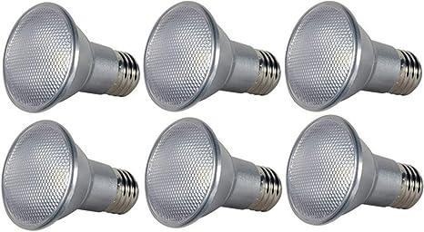 Satco S9405 Par20 LED 2700K 40/' Beam Spread Medium Base Light Bulb 7W New Lamp