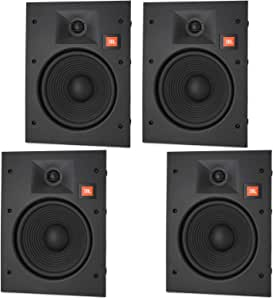 """JBL LAE8I 8"""" in-Wall Speakers 2-Way Frameless Design with White Magnetic Grille - (4 Pack)"""