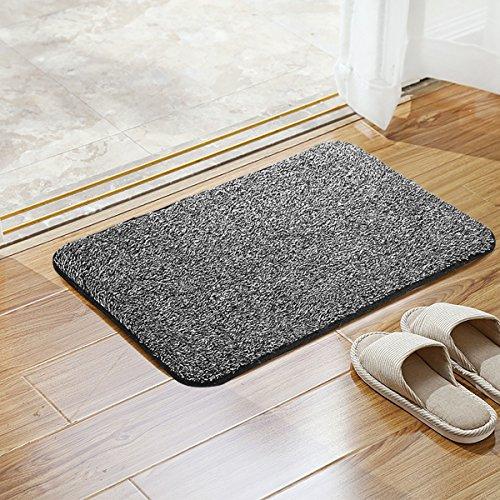 Doormats Bath Rugs Bathroom Front Door Entry Mats Floor Entrance Bedroom Patio Soft & Absorbent Door Mat Machine Washable Carpet Anti Slip Backing Shoes Scraper Dirt Trapper 15.7