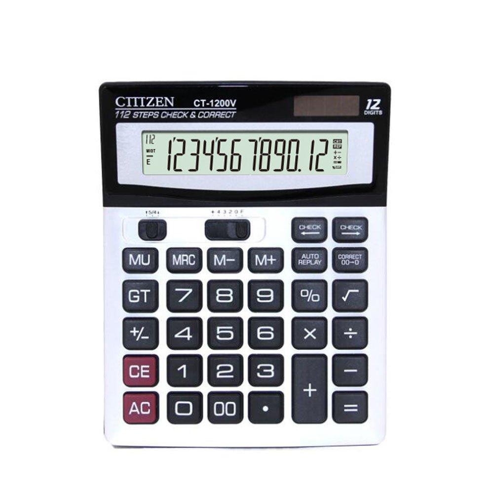 Fashionwu DM-1200V 12 Financial Digits Solar Battery Desktop Calculator Dual Power Calculator
