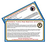 Xpress ID Service Dog Handout Cards (Qty.50) | ADA Information Cards