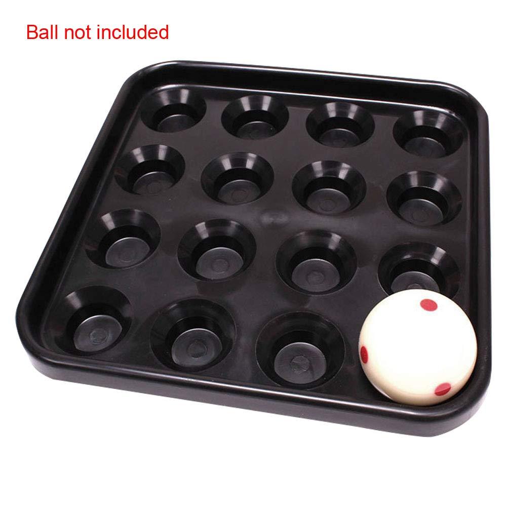 TXYFYP Standard Billard Pool Ball Tray f/ür 16 B/älle,Kunststoff Pool Ball Tray f/ür Full Set Regulation Size Billard B/älle
