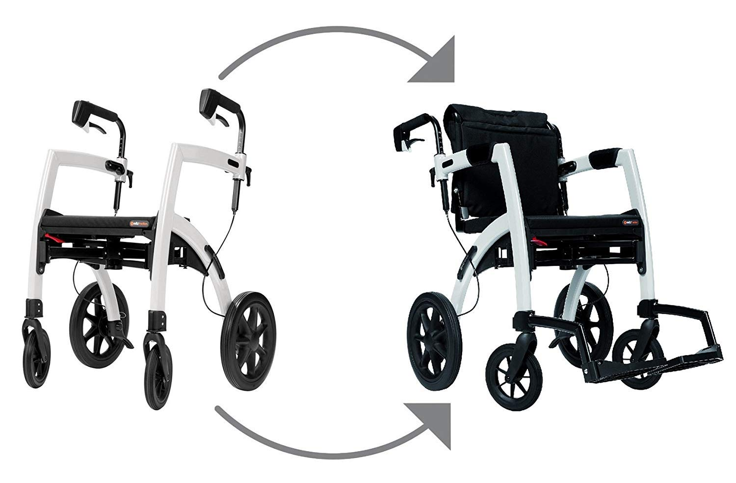 Amazon.com: Rollz Motion – Silla 2-n-1 Rollator Transporte ...
