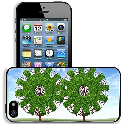 Liili Premium Apple iPhone 5 iPhone 5S Aluminum Snap Case Cloud computing growth and the future of virtual storage and internet based remote desktop illustrated by trees and clouds in the sh by Liili