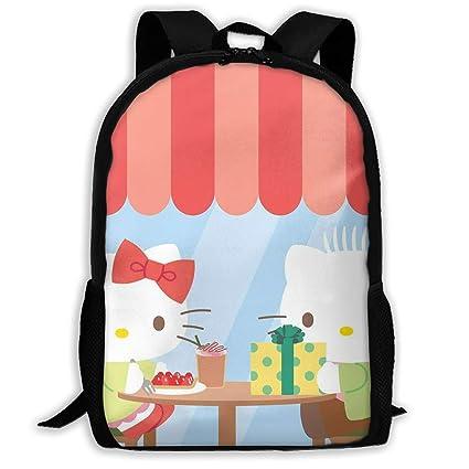 18591618e0ef Amazon.com: LIUYAN Custom Hello Kitty with Present Casual Backpack ...
