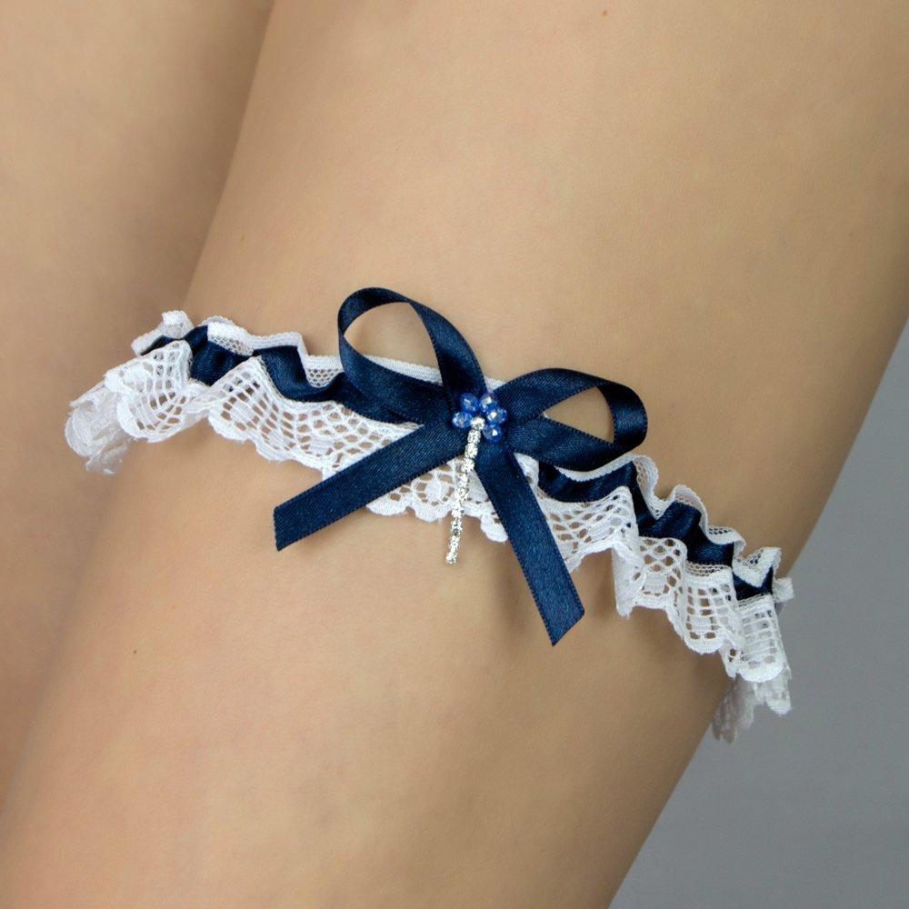 Giarrettiera di pizzo nozze matrimonio sposa biancheria intima regali de nozze bianco perlas
