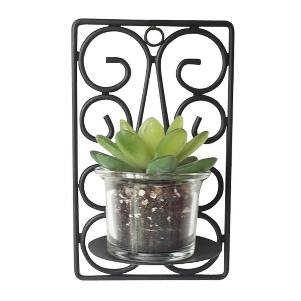 JSHJIA Flower Rack Indoor Iron Wall Decoration Strap Plant Wall Decoration On The Wall Dimensional Wall Decoration,Modern Simplicity Flower Pot (Color : C) by JSHJIA