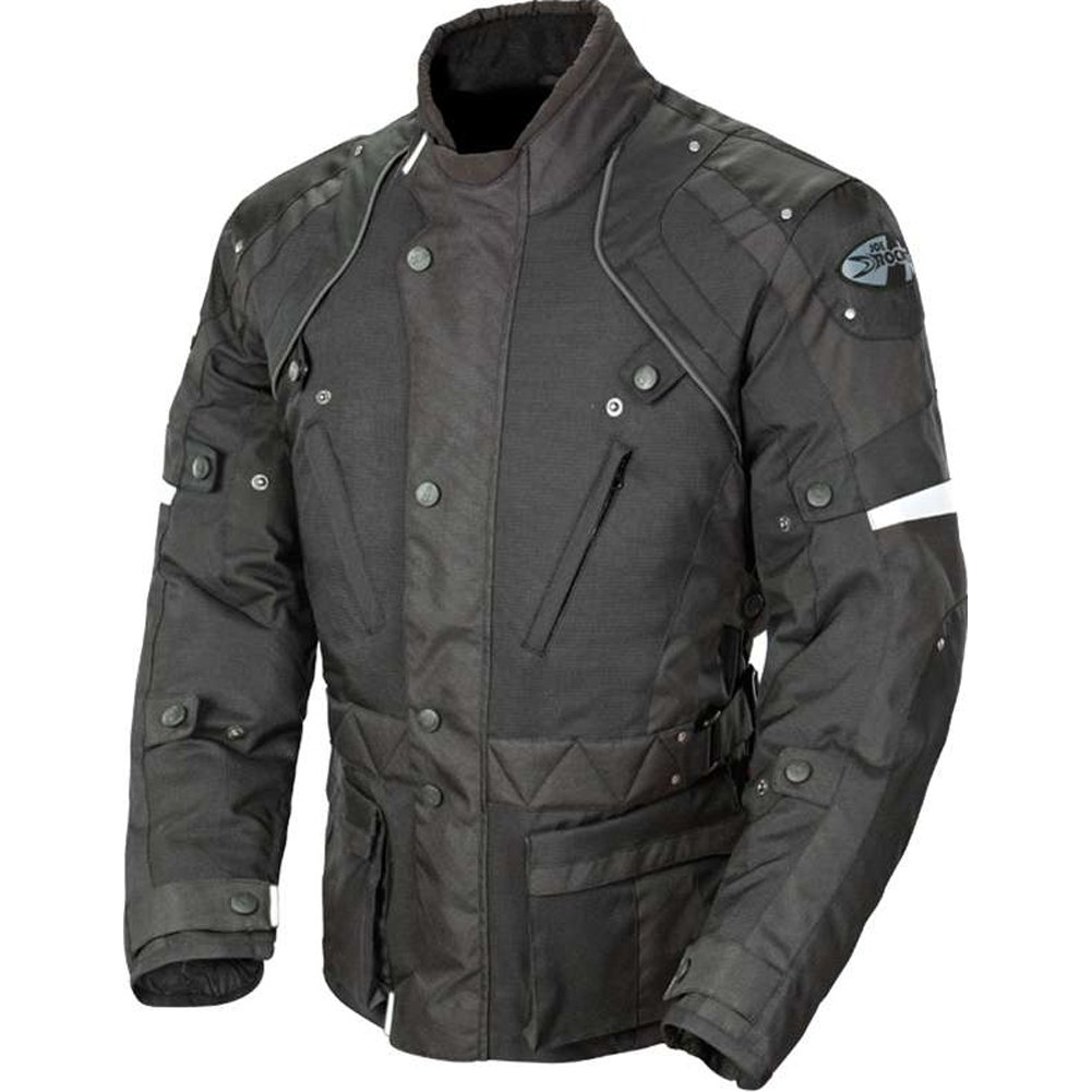 Joe Rocket Ballistic Revolution Men's Textile Sports Bike Motorcycle Jacket - Black/Black / 2X-Large by Joe Rocket