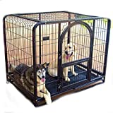 SL&ZX Pet dog cage,Folding metal dog crate Large dog golden crate Tall dog playpen Pet single-door home training crate Indoor Outdoor tent fence-Blue 96x65x82cm(38x26x32inch)