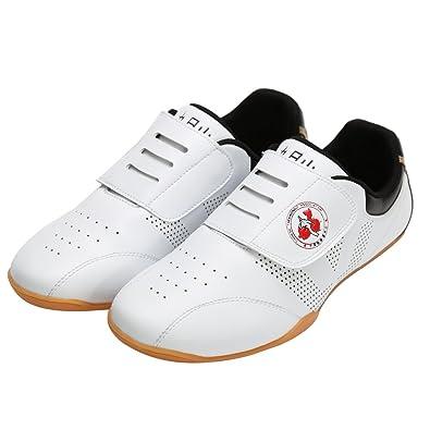 wesing Chaussures D'Arts Martiaux pour Homme - Blanc - Blanc, 38 EU