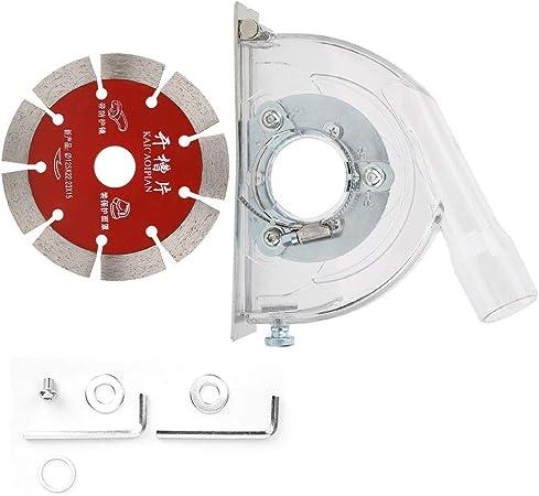 accesorios de amoladora angular 125 piezas de hardware de disco ranurado pr/áctico de usar campana de corte de amoladora B-110A colector de cubierta de polvo Cubierta de molienda