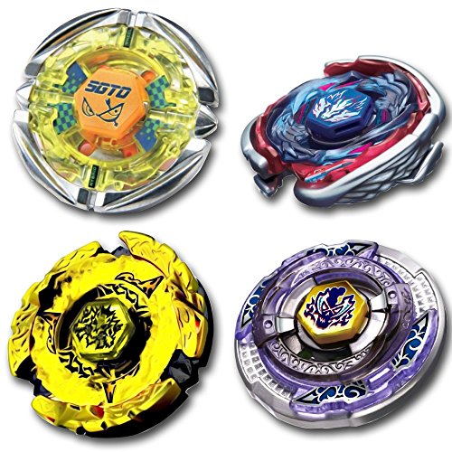 Beyblade Combo 4 Pack Hell Hades Kerbecs 4D + Big Bang Cosmi