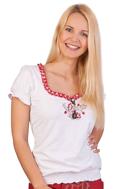 Trachten Blusen Shirt - JU RONJA - schwarz, weiß