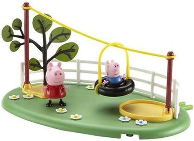 Peppa Pig - Parque de Juegos tirolina (Bandai): Amazon.es: Juguetes y juegos
