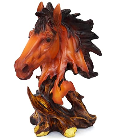 Tied Ribbons Reg Horse Statue Home Decor Statues Decorative Item For Garden Showpiece For