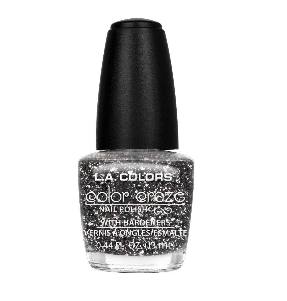 L.A. Colors Craze Nail Polish, Sparkling Diamonds, 0.44 Fluid Ounce