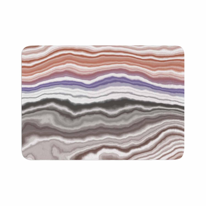 17 x 24 Kess InHouse Kess Original Iris Lake Bed Geological Abstract Memory Foam Bath Mat