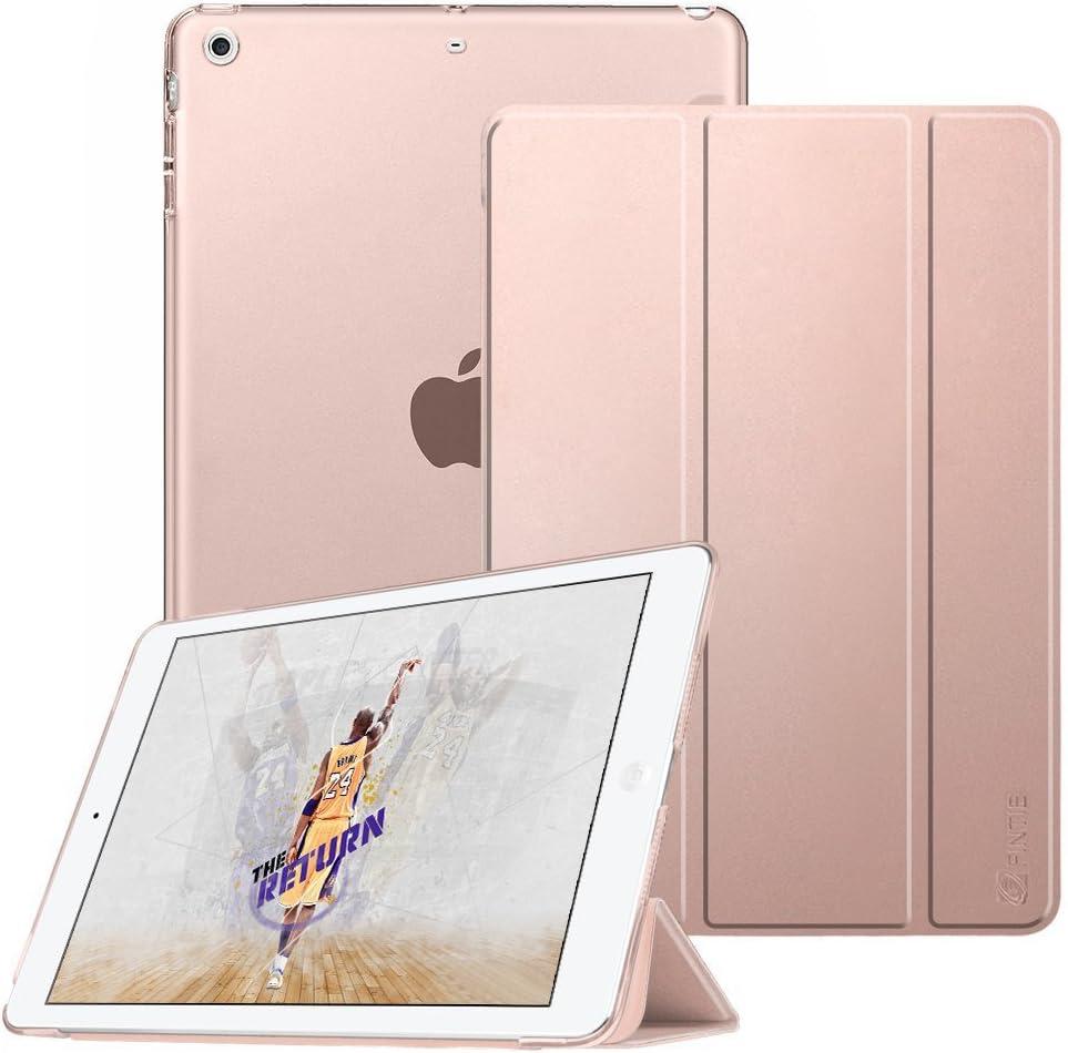 Fintie Funda para iPad Mini 3/2/1 - Trasera Transparente Mate Carcasa Ligera con Función de Soporte y Auto-Reposo/Activación, Oro Rosa