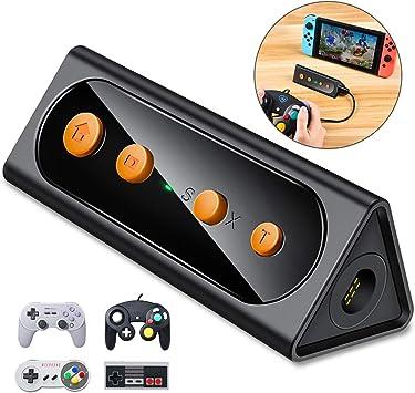BEBONCOOL - Adaptador de mando inalámbrico para Nintendo Switch, adaptador para mando Gamecube con función Turbo, compatible con Gamecube con cable y controladores de edición clásica: Amazon.es: Electrónica