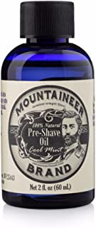 product image for Mountaineer Brand Pre-Shave Oil | Reduce Nicks and Irritation for Close Shaving | 2-ounce (Cool Mint)