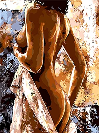 Lovethefamily Plump Body Paint By Numbers Kits Diy Digital Painting Coloring On Canvas Oil Painting By Yourself Handmade Frameless 40x50cm Amazon In Home Kitchen