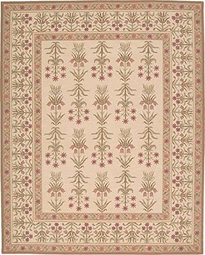 Nourison 16Th Century (1651) Light Gold Rectangle Area Rug, 3-Feet by 5-Feet  (3' x 5')