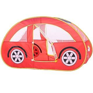 Maybesky - Kit di Miniature per Bambini, Realizzato a Mano, Motivo: Auto Rossa, per Interni o Esterni