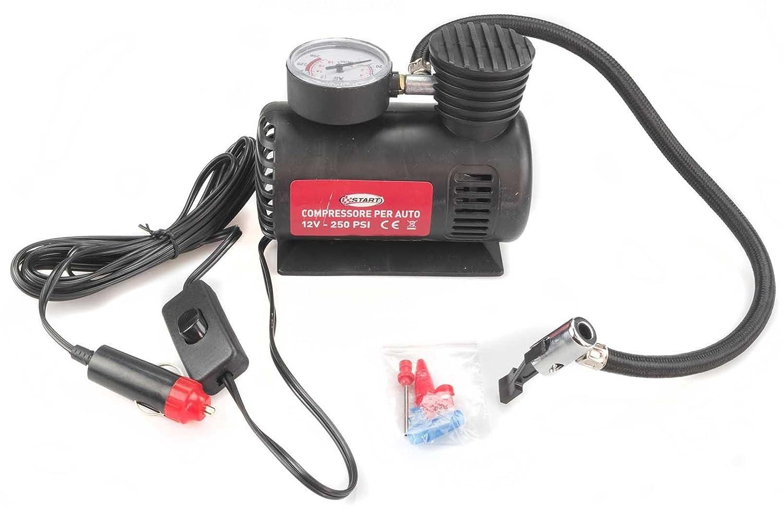 Start Compresor para coche 12 V. 250PSI - Casquillo para Mechero RoHS, de Mantenimiento de Coche: Amazon.es: Coche y moto