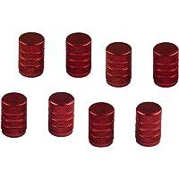 Kesoto 8x tampas de parafuso de ar para pneus/pneu de roda vermelha/tampas de parafuso para carro, caminhão, bicicleta