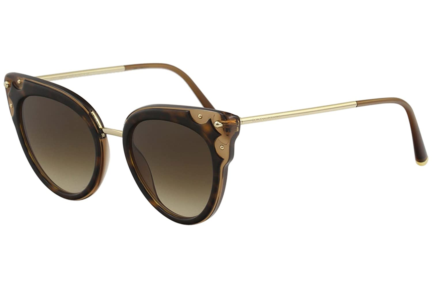 df63b2c279fb Amazon.com: Dolce & Gabbana D&G DG4340 DG/4340 3185/13 Havana/Brown Cat Eye  Sunglasses 51mm: Clothing
